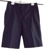 Liz Claiborne Collection Flat Front Knee Length Walking Shorts -Black-SZ... - $34.95