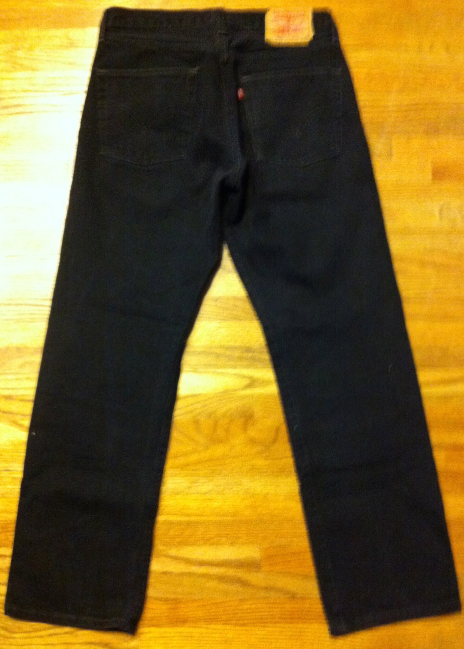 Mens Used Classic Button Fly Black 501 Levis SZ 31 x 29