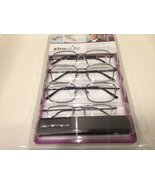 4 Pairs Magnivision Gunmetal Reading Glasses +3.00. (3 pairs full rim Ma... - $29.99