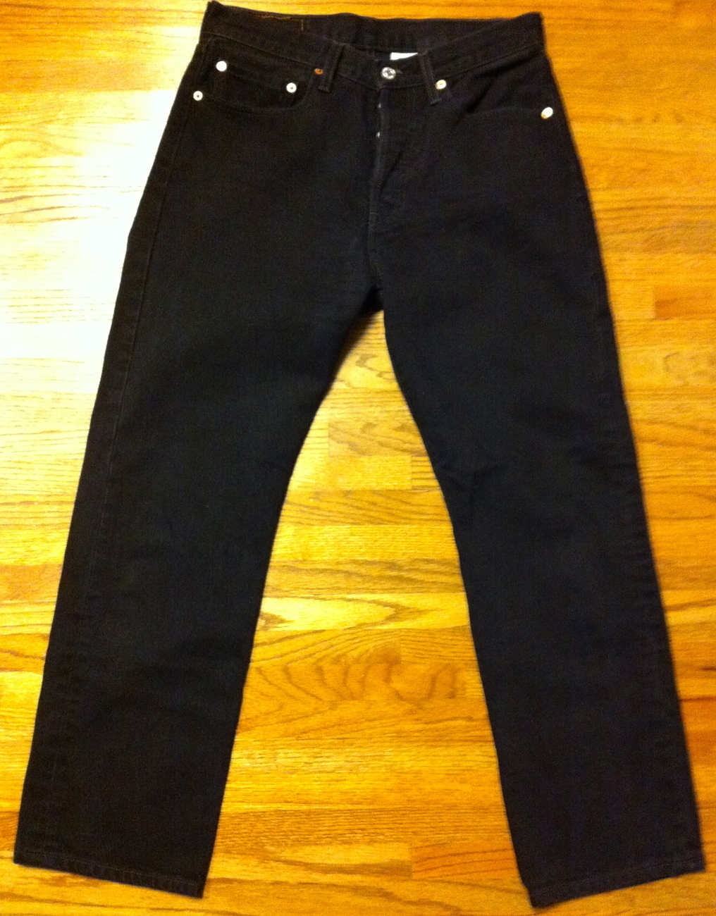 Primary image for Mens Used Classic Button Fly Black 501 Levis SZ 31 x 29
