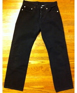 Mens Used Classic Button Fly Black 501 Levis SZ 31 x 29 - $25.00