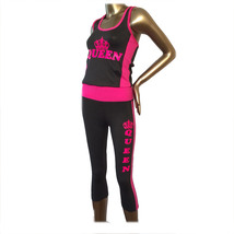 Queen hot pink design  two-piece outfit sets - $34.99