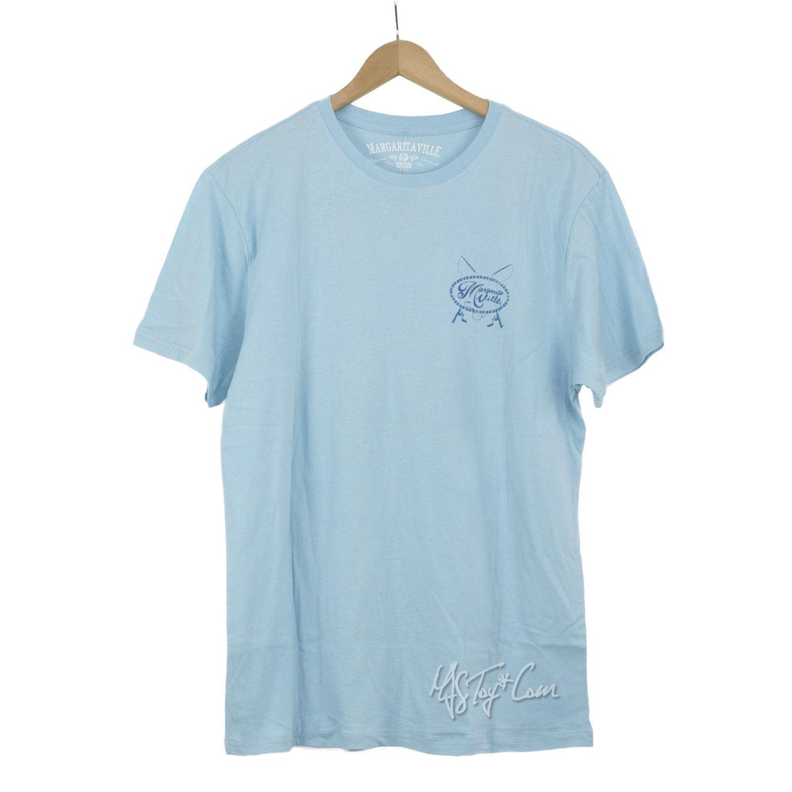 Nwt jimmy buffett 39 s margaritaville men blue cotton t shirt for Mens 3xl t shirts
