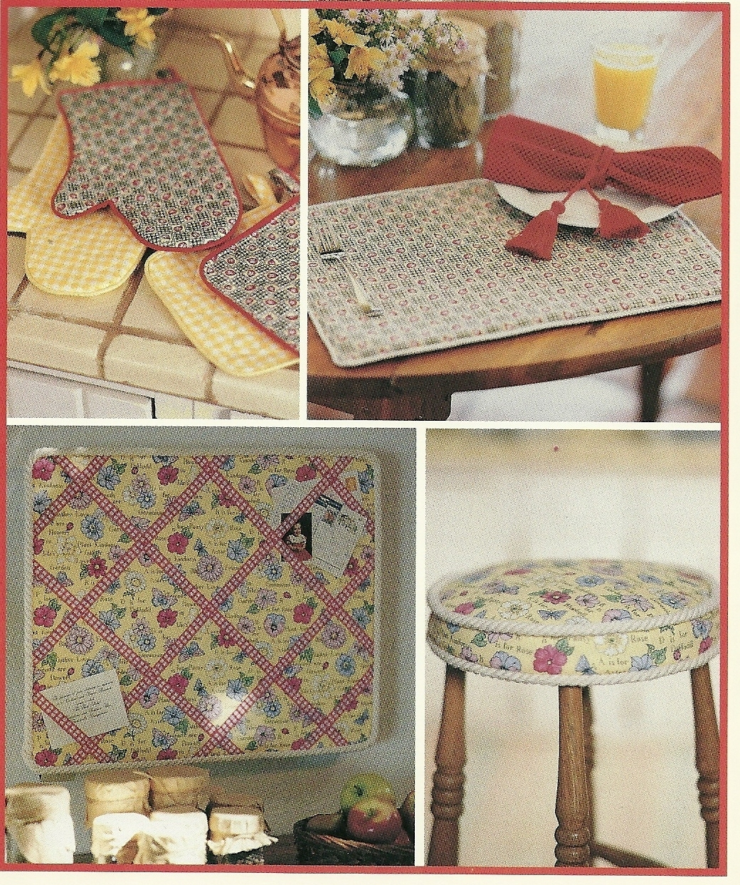 Home Decor Sewing Ideas: McCall's Sewing Pattern 654 Home Decor Kitchen Essentials