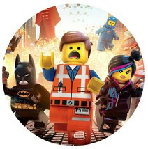 "Lego Movie Image Photo Cake Topper Sheet Birthday Party - 8"" ROUND - 75775 - $8.99"