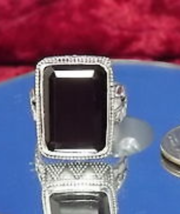 Size 8    Bali Legacy Collection Thai Black Spinel  Ring in .925 Sterling Silver - $49.49