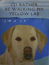 Walking Yellow Lab Metal Sign - $18.95