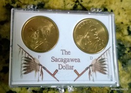 2 Coins 2000-Philadelphia & Denver  Sacagawea Dollar - $12.99