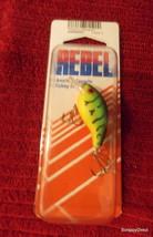 Rebel Lip Minnow Crankbait  Fire Green - $3.00