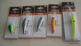 Lot of 5 Conquer Lures - $10.00