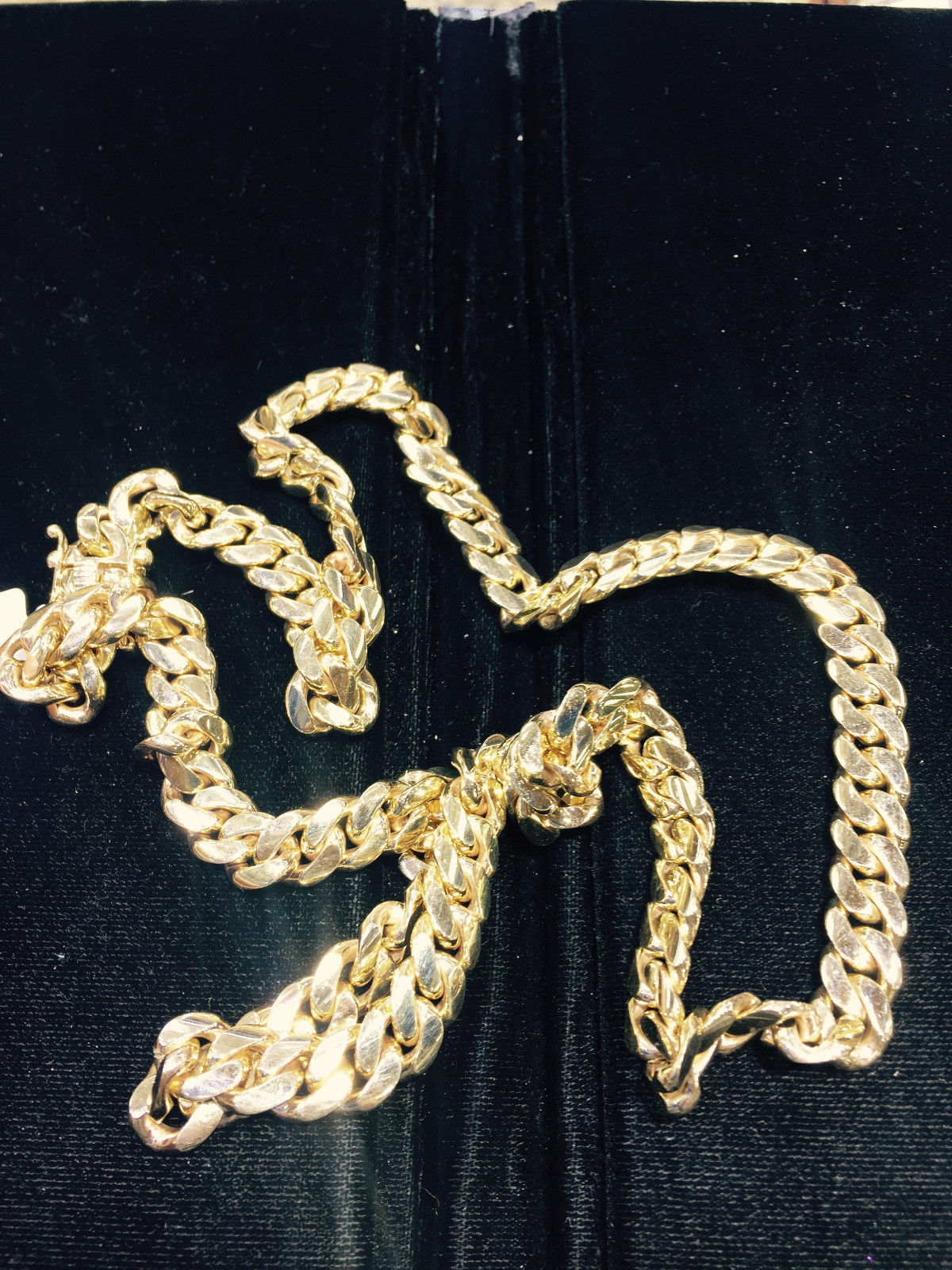 """11.05mm 14K YELLOW GOLD SOLID 32"""" HEAVY MIAMI CUBAN LINK MENS CHAIN  257.5GRAMS"""