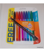 Paper Mate Ink Joy 8 Assorted Medium Point Pens + 1 Styus Pen #193647219 - $4.50