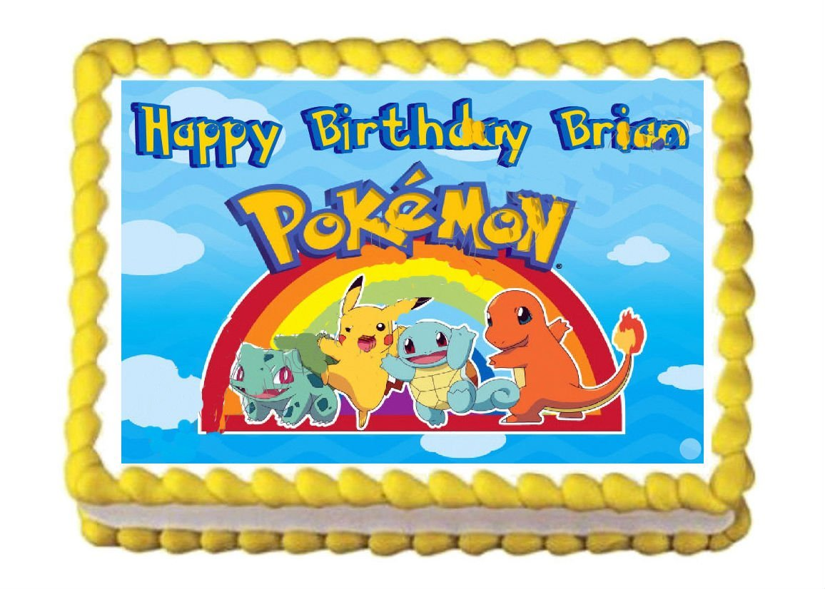 Edible Cake Images Pokemon : POKEMON Party Edible image Cake topper and 50 similar items