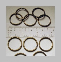 "25 KEY RINGS ~ 25mm 1"" Split Ring ~ ANTIQUE BRASS ~ SteamPunk Color ~ Fi... - $5.24"