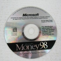 Microsoft Money 98 Standard PC CD ROM Full Version for Windows 95 NT - $9.89