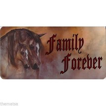 FAMILY FOREVER HORSES PHOTO METAL LICENSE PLATE MADE IN USA - $29.69