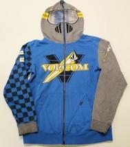 Volcom Elsinore Slim Hoodie XL Blue w/ Gray Sleeves Jacket Sweatshirt Kids - $19.98