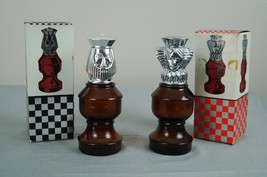 Avon - Vintage - King and Queen Chess Pieces - Empty Cologne Bottle/Deca... - $12.59