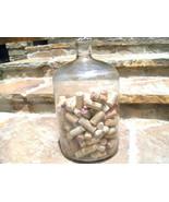 Large Old Italian Wine Bottle JUG Glass DEMI JO... - $149.97