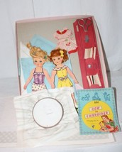 VINTAGE DOLL EMBROIDERY KIT ORIGINAL BOX DOLLS INSTRUCTIONS ACCESSORIES - $23.38