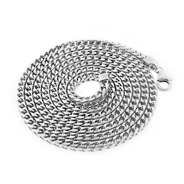 Men's 4mm 925 Silver Franco Chain Necklace 36 inch 63 Grams