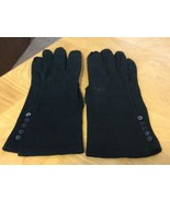 Vintage Black Ladies Gloves W/ Buttons - $9.49