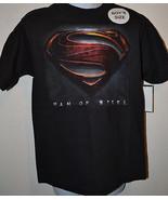 DC COMIC SUPERMAN MAN OF STEELE T-SHIRT SIZE XS 4/5  NWT Black - $7.79