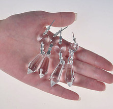 20 Clear Chandelier Glass Crystals Lamp Prisms Parts Hanging Drops Pendants 38mm - $11.47