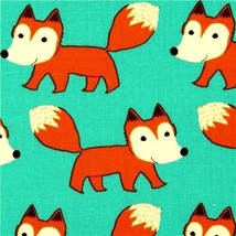 1 Fat Qtr FOX FOREST PLAYGROUND FOX Foxes Anima... - $6.75