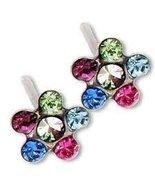 Silver Rainbow Daisey Ear Piercing Earrings System 75 - $8.49