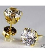 CZ 7mm 14K Gold System 75 Cartilage Earring Stud Hypoallergenic Surgical... - $59.99