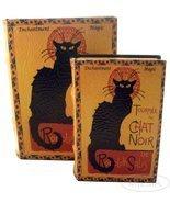 LE CHAT NOIR by Steinlen Black Cat Secret Book Box Set Jewelry Keepsake ... - $48.99
