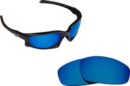 New SEEK Replacement Lenses Oakley Wind Jacket Asian Fit Polarized Blue Mirror - $16.46