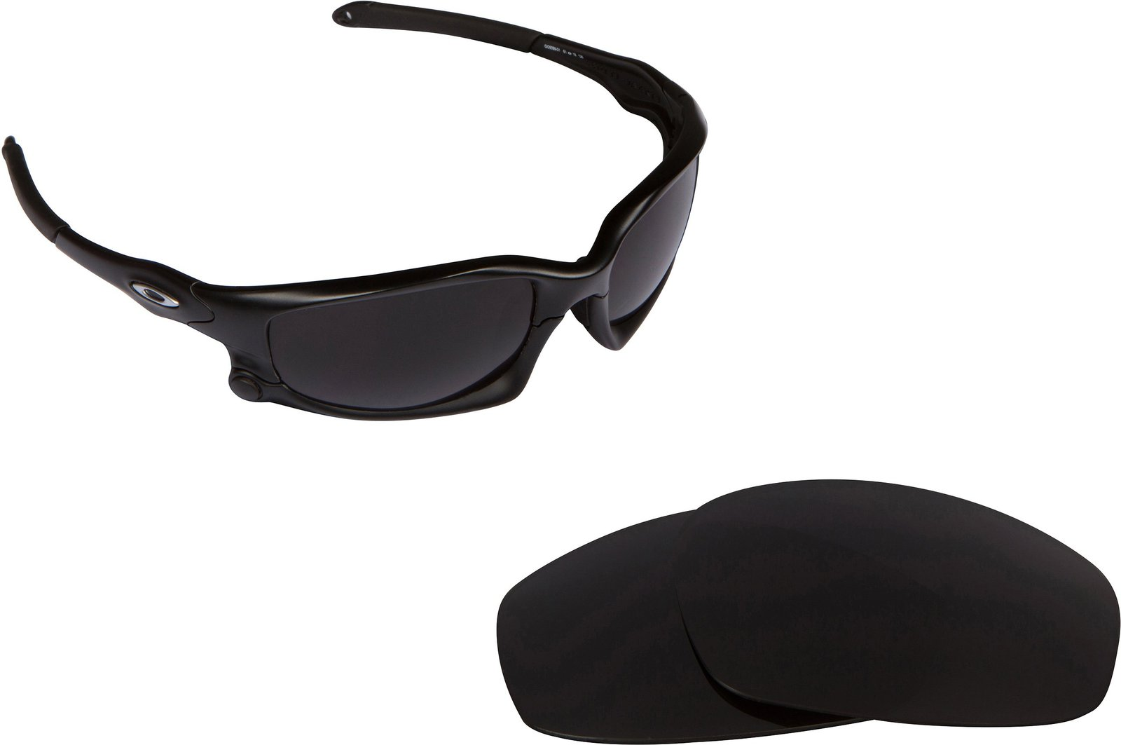 Primary image for New SEEK Replacement Lenses Oakley Wind Jacket Asian Fit - Polarized Black Ir...