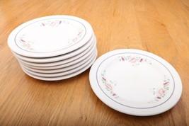 "8 Homer Laughlin Salad Plates AAA-11 6 1/4"" Flo... - $32.71"