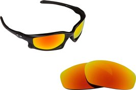 New SEEK Replacement Lenses Oakley SPLIT JACKET - Polarized Fire Red Mirror - $16.46