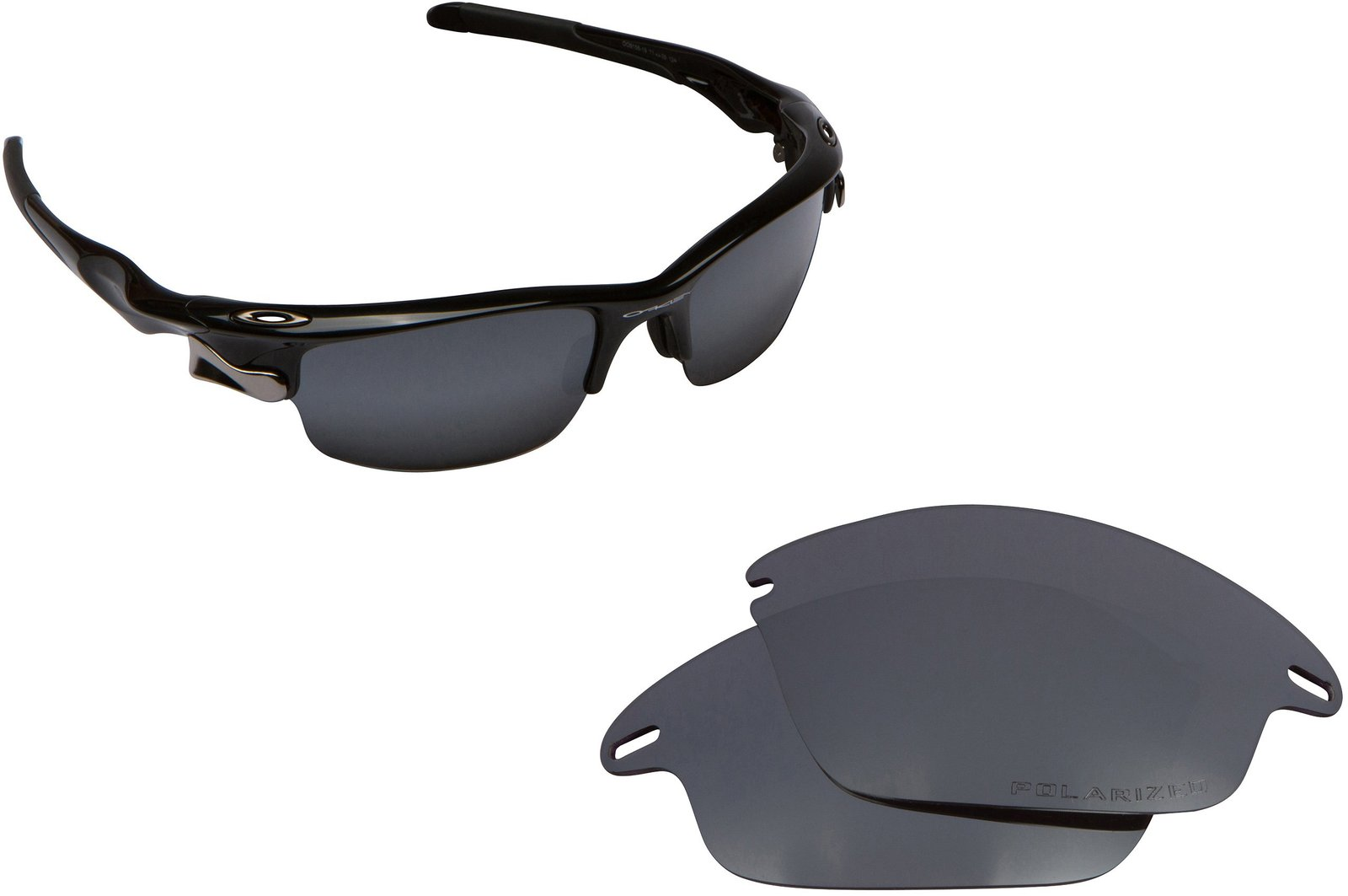 Primary image for New SEEK Replacement Lenses Oakley FAST JACKET Asian Fit Polarized Black Iridium