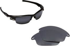 New SEEK Replacement Lenses Oakley FAST JACKET Asian Fit Polarized Black Iridium - $16.90