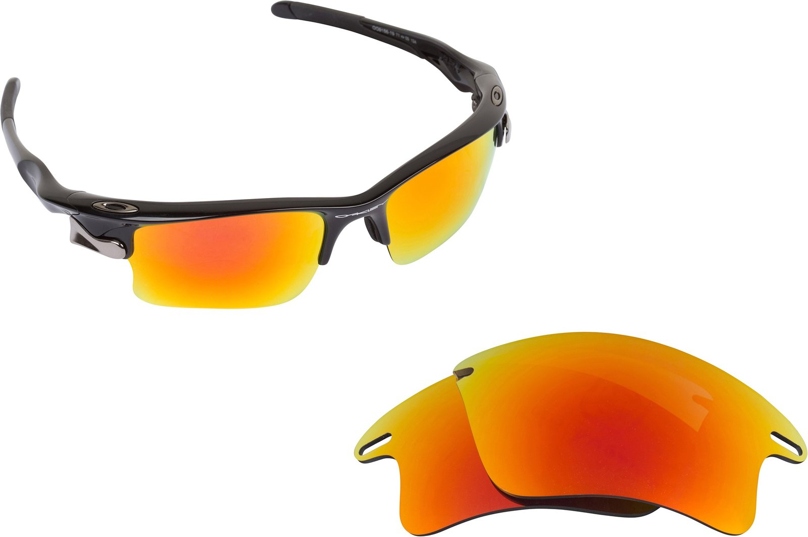 Primary image for New SEEK Replacement Lenses Oakley FAST JACKET XL Asian Fit Polarized Fire Re...