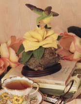 Hummingbird Flower Nature in Sculpture Annie's Plastic Canvas Pattern Leaflet - $3.57