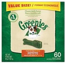 GREENIES Dental Dog Treats, Petite, Original Flavor, 60 Treats, 36 Oz. - $55.44
