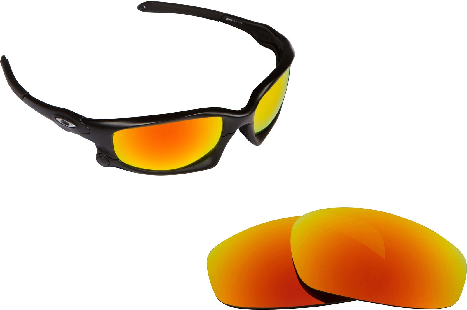 New SEEK Replacement Lenses Oakley WIND JACKET - Polarized Fire Red Mirror