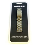 Modal 22mm Metal Watch Band for Pebble, Moto 360, LG, Asus MD-SWSM22 - $11.88