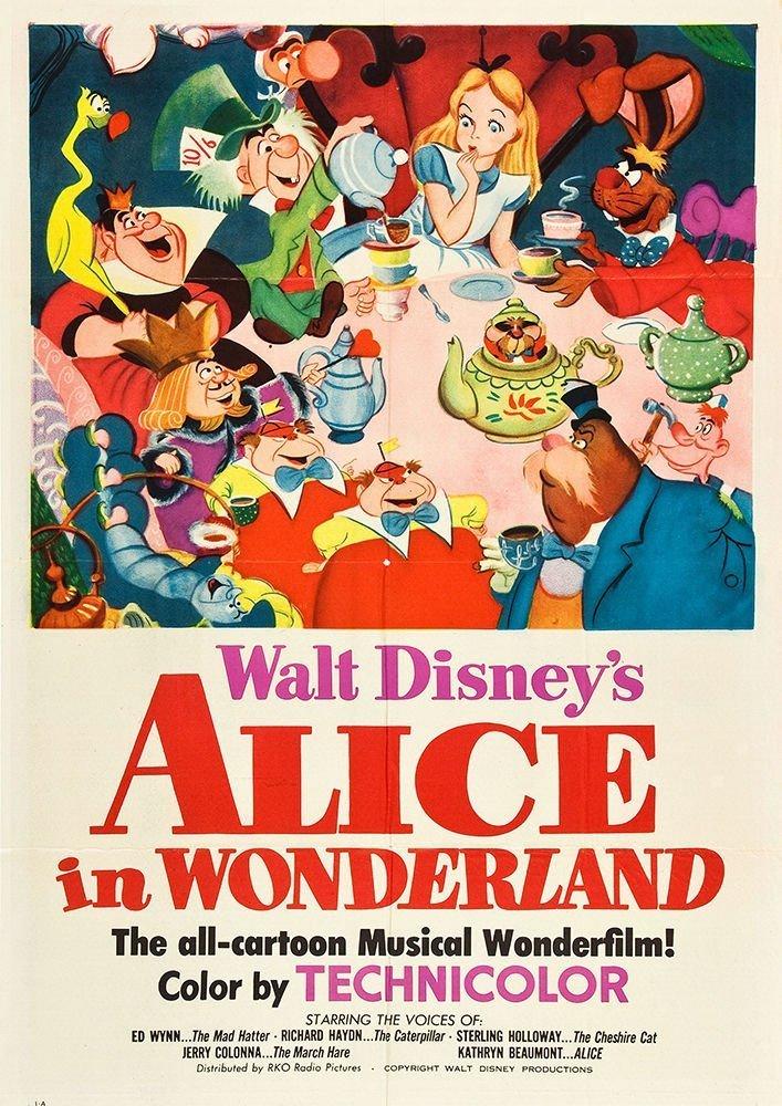 Alice in wonderland 2 x 3 inch magnet