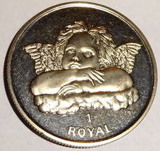 GIBRALTAR CHERUB ANGEL 2003 1 ROYAL CUNI COIN UNCIRCULATED - $22.53