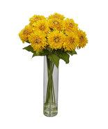 Sunflower w/Cylinder Silk Flower Arrangement: 1246 Yellow, white or red - $125.95