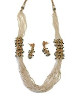Na n045 New Bollywood Designer 20 Inches MultiLines Pearls,Golden Balls ... - $62.45