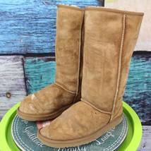 Ugg Australia Size 9 Chestnut Brown Sheepskin Suede Classic Tall Winter ... - $69.29