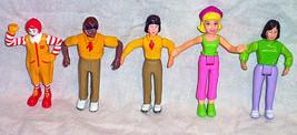 Lot of 5 McDonald's Fast Food service crew figurines 3 ½ inch tall  2003 - $9.99