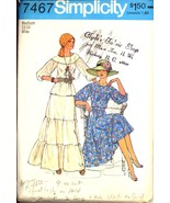 1970s Size M Peasant Blouse Skirt Two Piece Dress Simplicity 7467 Patter... - $9.99